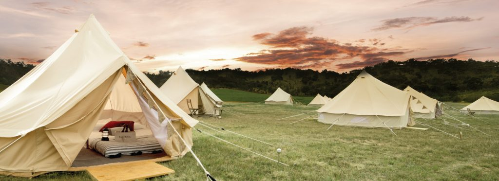 Glamping in Taltarni Vineyards